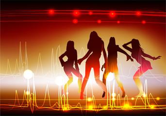 neon girls dancing