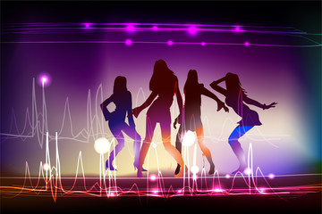 neon girls dancing