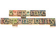 corporate responsiblity in wood type