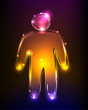 Neon person, neon collection,