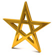 Five-pointed golden star