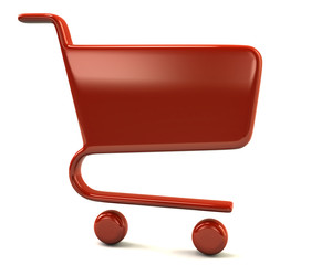 Red shopping cart icon