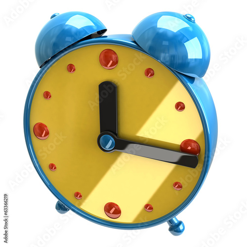 Illustration of clock isolated on white background