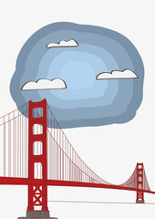 Vector Illustration of the Golden Gate Bridge