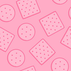 Crispy Crackers seamless texture in pink color.