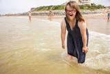 Fototapety jeune fille trisomique à la mer