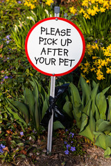 Polite Dog Shit Sign