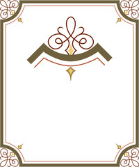 Elegant and stylish border frame with beautiful ornament corners