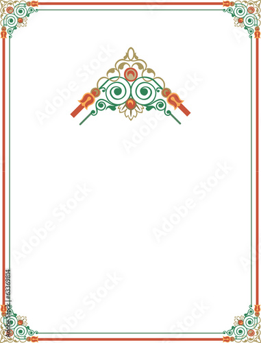 Elegant and stylish border frame with beautiful ornament corners