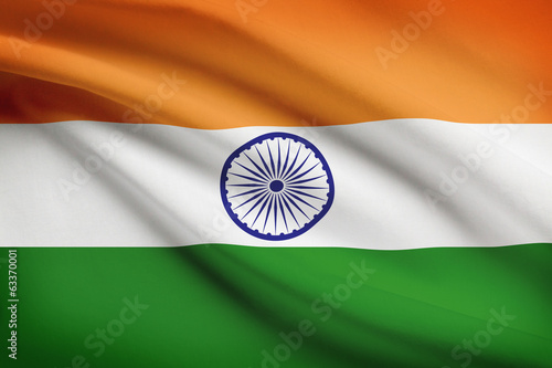 Series of flags. Federal Parliamentary Republic of India.