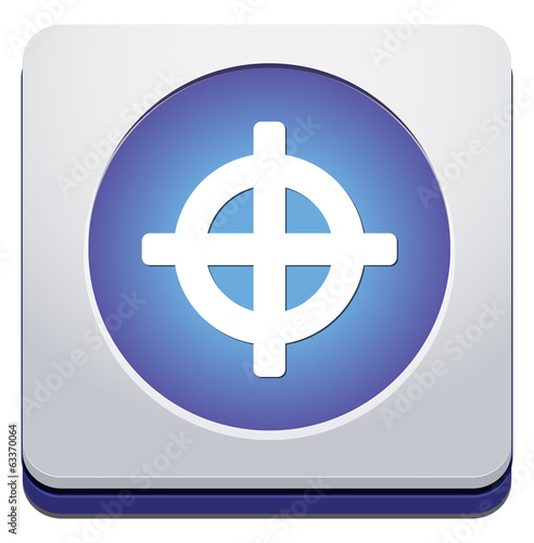 Crosshair sign icon. Target aim symbol