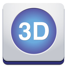 3d button or icon