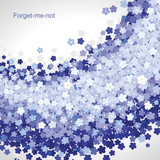 Fototapety Forget-me-not background