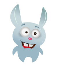 Crazy rabbit cartoon