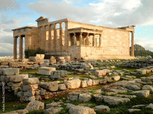 Staande foto Athene Temple Ruins in Athens