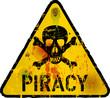 Computer virus, piracy, phishing warning sign,vector
