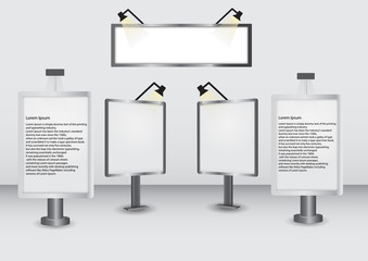 Vector Billboards Collection on White Background