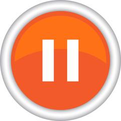 Круглый векторный знак с изображением паузы