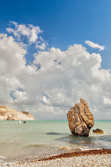 Rock at beach Petra tou Romiou