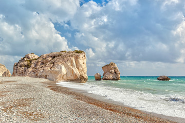 Aphrodite's rock and beach Petra tou Romiou