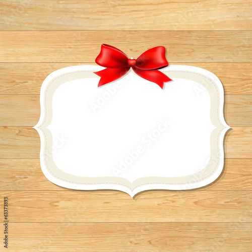 Wood Wall With Red Bow