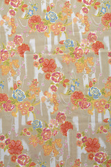 background from many rose fabric in sun light