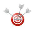 business meeting target illustration design