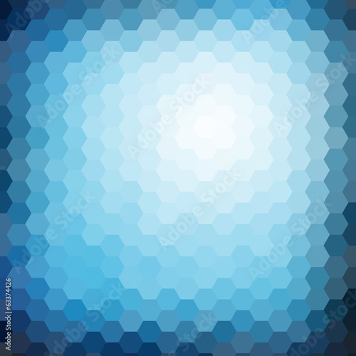 Abstract hexagon mosaic gradient background