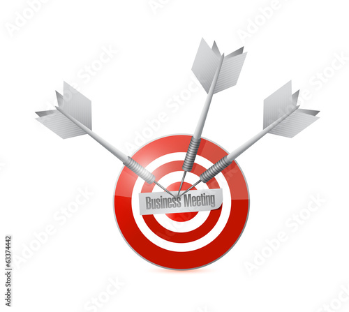 business meeting target illustration design