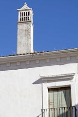 White chimney, Guadalupe,Caceres province,Spain