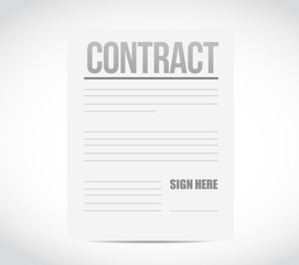 sign here contract paper illustration design