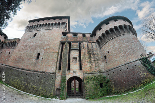 the Rocca di Ravaldino in Forli, Italy