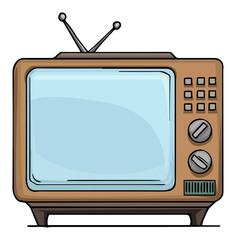 Old style, vintage TV set