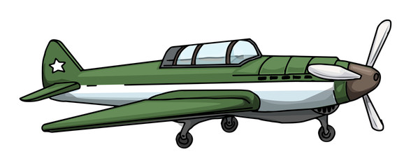 green Vintage plane