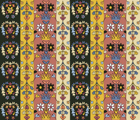 seamless pattern, Arabic style floral design