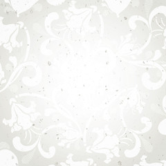 Floral paper background with copy space