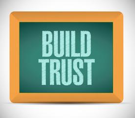 build trust sign message illustration design