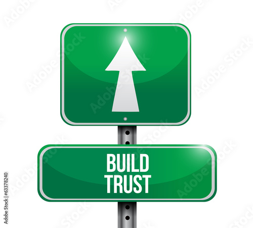 build trust signpost illustration design
