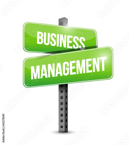business management signpost illustration