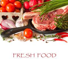 Fresh food.