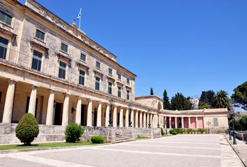 Palace in Corfu Town, Greece, Europe
