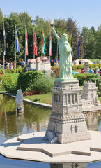 """Statue of Liberty.Klagenfurt. Miniature Park """"Minimundus"""". Austr"""
