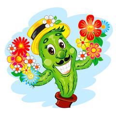 Illustration of the cartoon Cactus
