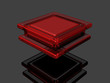3d colorful square red
