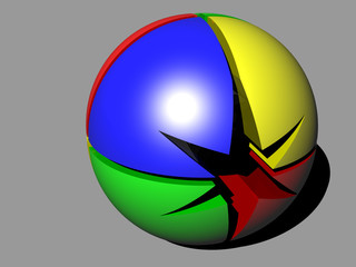 3d ball sphere of the stars
