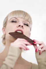 Chocolate eating