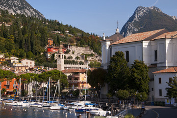 Maderna a lovely town on Lake Garda Italy