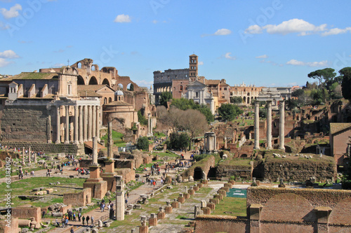 Ancient Forum in Rome Italy.