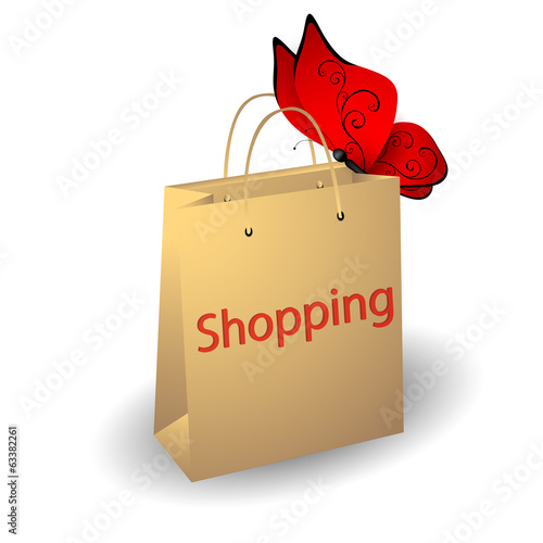 Paper bag for shopping