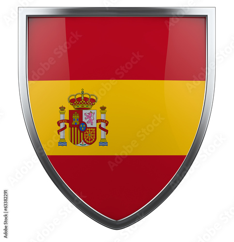 Spain Flag Shield